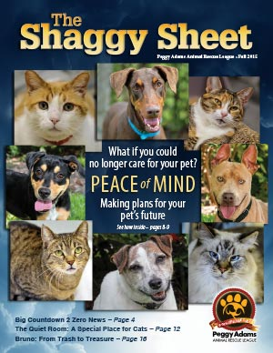 Shaggy Sheet Newsletter | Peggy Adams Animal Rescue League