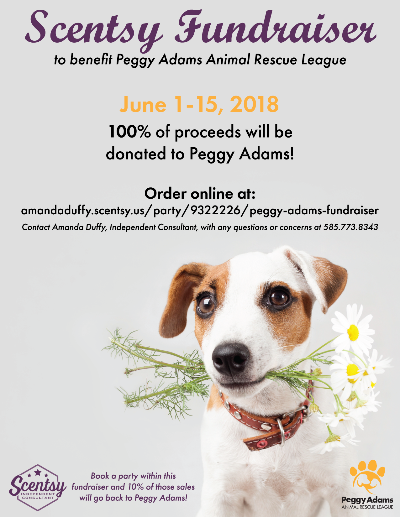 Peggy Adams Animal Rescue League Scentsy Fundraiser